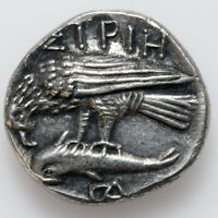 GREEK COIN MOESIA ISTROS. CIRCA 4TH CENTURY BC. SILVER