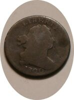 1800 DRAPED BUST HALF CENT FAIRLY STRONG DETAIL EARLY DATE