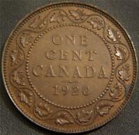 1920 CANADIAN LARGE CENT   FULL EAR BOTH BANDS ON CROWN AND