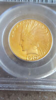 1910 D $10 INDIAN GOLD EAGLE PCGS 62 AMAZING TONE OLD BLUE H
