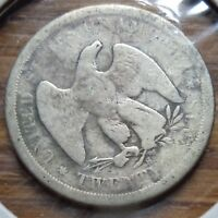 1875 S TWENTY CENT PIECE SEATED LIBERTY  SMALLER THAN QUARTER OLD SILVER 20