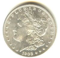 1903 O MORGAN DOLLAR MS     WHITE COIN BETTER DATE FULL FEAT