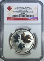 2016 $4 1/2 OZ CANADA SILVER MAPLE LEAF GILT NGC PF70 UCAM R