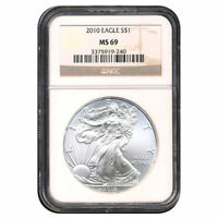 CERTIFIED UNCIRCULATED SILVER EAGLE 2010 MINT STATE 69