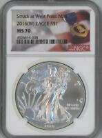 2016 W SILVER EAGLE DOLLAR NGC MS 70 WEST POINT