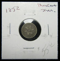 1852 3CS THREE CENT SILVER. CIRCULATED.  TYPE COIN 0119169