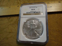 1996 UNITED STATES 1 OZ SILVER EAGLE DOLLAR $1 NGC MINT STATE 69 - FREE S&H USA