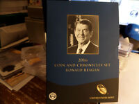 2016 RONALD REAGAN COIN AND CHRONICLES SET IN STOCK READY TO SHIP