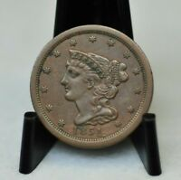 1851 CHOICE EXTRA FINE  BRAIDED HAIR HALF CENT [02DUD]