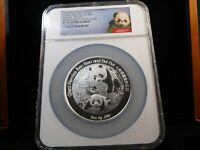 Z29 CHINA PRC 2016 SILVER PANDA 5 OZ. BEI BEI NGC PROOF 70 U