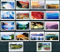 SCENIC LANDSCAPES NATIONAL PARKS SET 18 MNH AIR MAIL STAMPS SCOTTS C133 TO C150