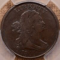 1804 C.5 R4 SPIKED CHIN HALF CENT PCGS F15 CAC WONDERFUL