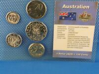AUSTRALIA  COIN SET   WITH 5 COINS   AND COA    Z2
