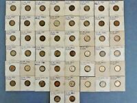 LOT OF 84 MERCURY DIMES DATED FROM 1916 TO 1945