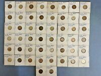 LOT OF 93 ROOSEVELT DIMES DATED FROM 1946 TO 1964