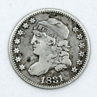 1831 CAPPED BUST HALF DIME 90  SILVER
