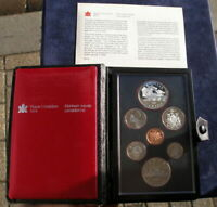 CANADA 1981 SILVER DOLLAR PROOF COIN SET BOXED WITH CERTIFIC