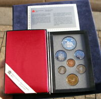 CANADA 1989 SILVER DOLLAR PROOF COIN SET BOXED WITH CERTIFIC