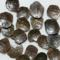 LOT OF 30 LATE BYZANTINE BRONZE CUP COINS   UNCERTAIN