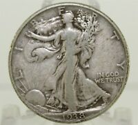 1938 D UNITED STATES LIBERTY WALKING 50 SILVER HALF DOLLAR