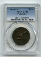 KENTUCKY PLAIN EDGE CENT PCGS GRADED  VF30