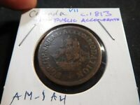 V11 CANADA C.1813 FOR PUBLIC ACCOMMODATION 1/2 PENNY TOKEN
