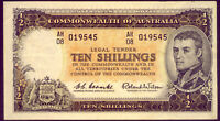 R17 TEN SHILLING NOTE: COOMBS AND WILSON  CRISP AND AEF  NO