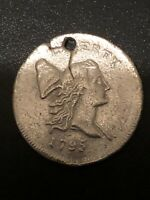 1795 LIBERTY CAP HALF CENT  AUTHENTIC  COATED SILVER