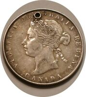 1870 SILVER FIFTY CENTS 50 OF CANADA ORIGINAL FULL DETAIL HO