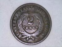 HIGH GRADE    1864 TWO CENT PIECE 2C  DD2641