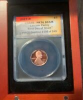 2019 W ANACS LINCOLN CENT ANACS PR70 PROOF DCAM FDOI WITH 20