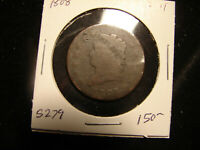 1808 CLASSIC HEAD LARGE CENT, AS PICTURED.