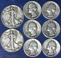 LOT: $2.50 FACE VALUE 90  SILVER U.S COINS