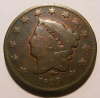 AWESOME 1829 MEDIUM LETTERS LARGE CENT - PLEASING CIRCULATED COIN