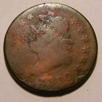 1810 CLASSIC HEAD LARGE CENT - OVERSTRUCK