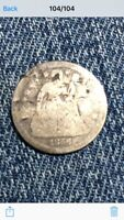 1856 SEATED LIBERTY SMALL DATE SILVER DIME POOR CONDITION
