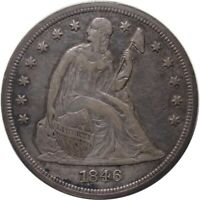 1846 $1 LIBERTY SEATED DOLLAR WITH GREAT PATINA