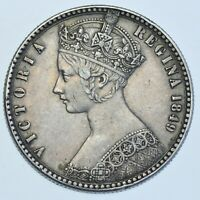 1849 GODLESS GOTHIC FLORIN BRITISH SILVER COIN FROM VICTORIA