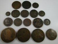 FOREIGN COIN LOT OF 17 1700'S & 1800'S