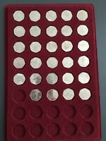 COMPLETE FULL SET OF LONDON 2012 OLYMPIC 50P COINS   29 COIN