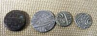 4 ISLAMIC SILVER COINS / INDIAN / PERSIAN ? 19TH C. ? INDO P