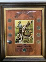 THE FORTY NINERS 9 LIBERTY HEAD NICKEL 9 NICKEL COLLECTOR COINS WOOD FRAMED SET
