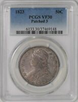 1823 CAPPED BUST 50C HALF PATCHED 3 939638-6 VF30 PCGS