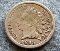 UNITED STATES 1863 CENT INDIAN HEAD