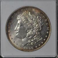 1896 MORGAN DOLLAR / MINT STATE 64 / PROOF-LIKE / ANACS 861993 / VAM-31  MIRRORS & TONES