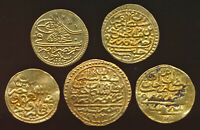 5 OTTOMAN EMPIRE GOLD COINS  YOU IDENTIFY  TOTAL WT 16.6 GRA