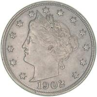 1902 LIBERTY V NICKEL ABOUT UNCIRCULATED AU