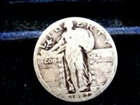 1927 STANDING LIBERTY SILVER QUARTER IN GOOD CONDITION  F-1-19