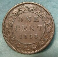 1858 CANADA LARGE CENT SOLID VF   CANADIAN COIN