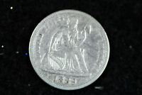 ESTATE  FIND 1889 SEATED LIBERTY DIME  D14650